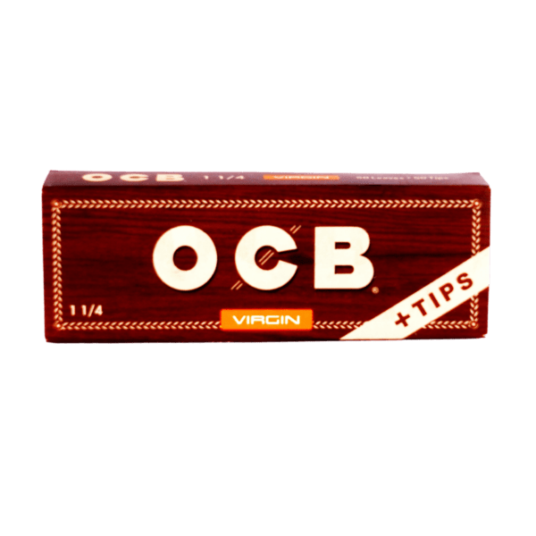 OCB Virgin 1 1/4 Papers with Tips