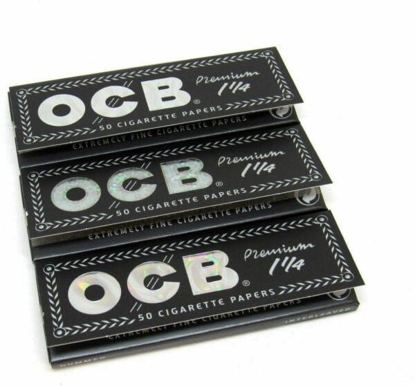 OCB Premium 1 1/4 Papers (3 Pack)