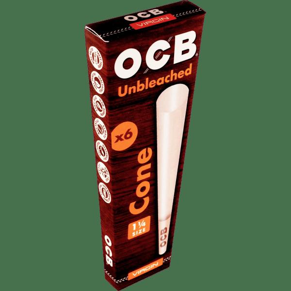 OCB Virgin Unbleached 1 1/4 Size Cone
