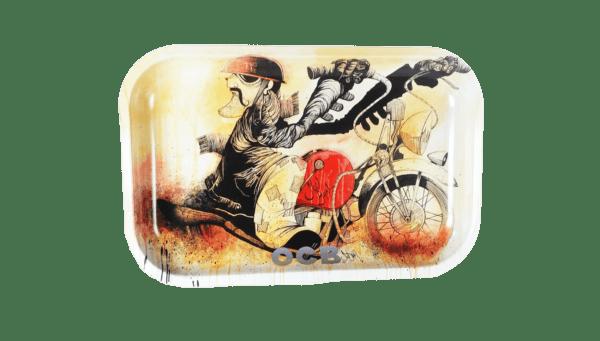 OCB Artistic Tray: Slow Burn Motorcycle by Sean Dietrich