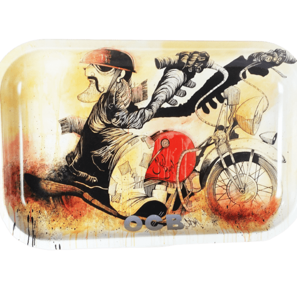 OCB Artistic Tray: Slow Burn Motorcycle by Sean Dietrich