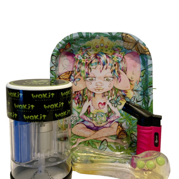 Wakit Grinder Lucid and Always Rolling Tray Bundle