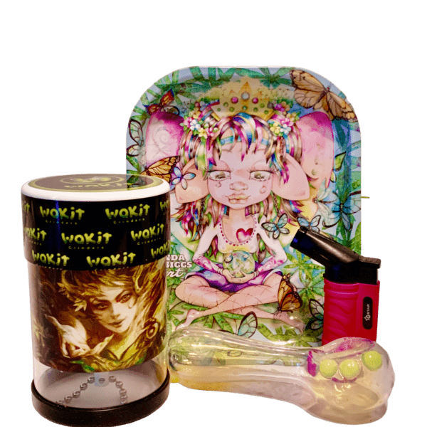 Wakit Grinder Tree Goddess and Always Rolling Tray Bundle