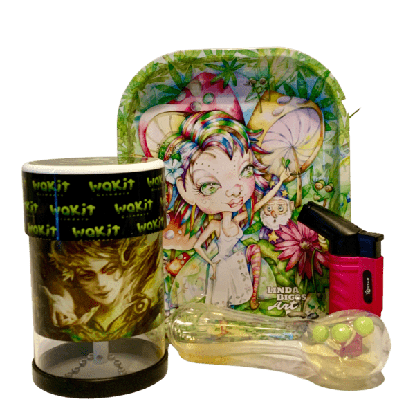Wakit Grinder Tree Goddess and Killer Queen Fairy Rolling Tray Bundle