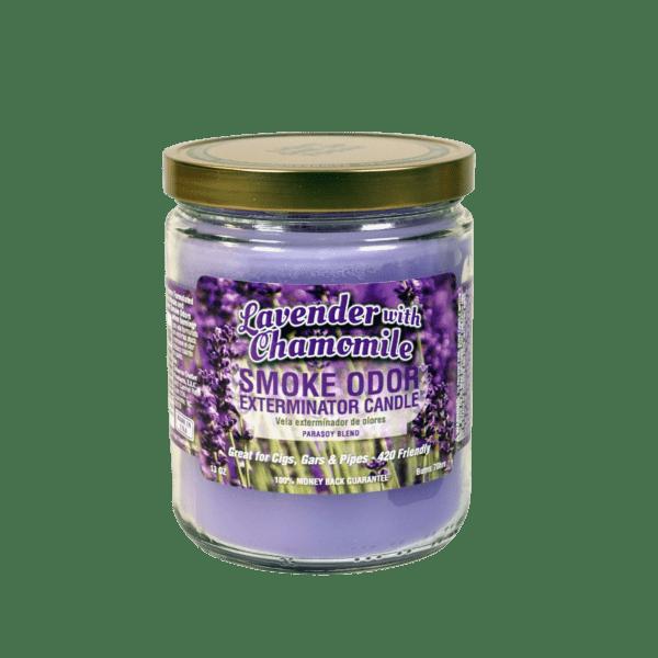 Smoke Odor Exterminator Candle 13 oz Jar Lavender and Chamomile Scent